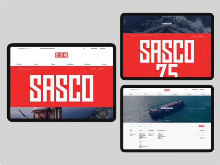 SASCO - 39 BEST FREE Bold Typography Web Designs