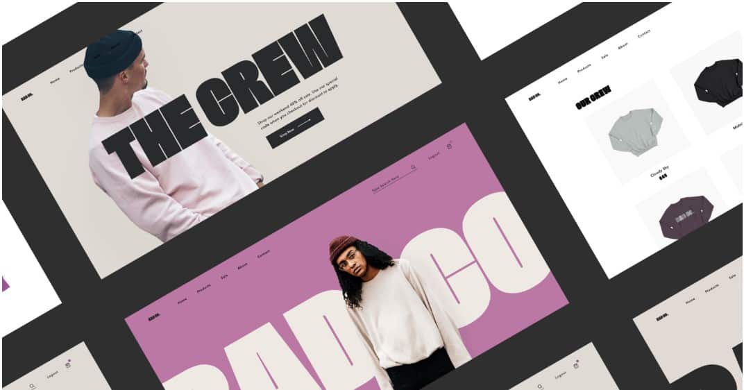 The-Crew - 39 BEST FREE Bold Typography Web Designs