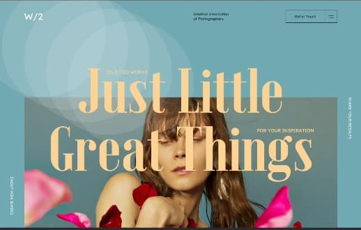 W2-Interaction - 39 BEST FREE Bold Typography Web Designs