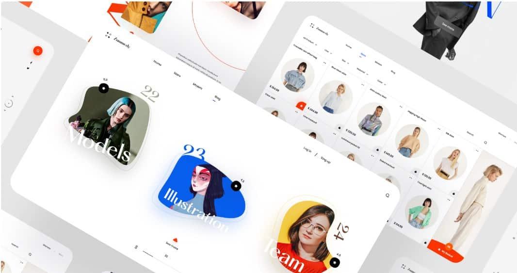Zummedy-Store-Blog-Design - 39 BEST FREE Bold Typography Web Designs